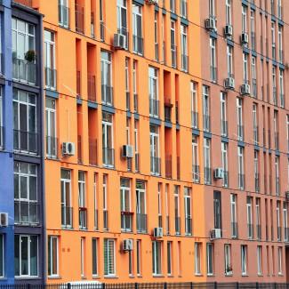 MIX-BUD max blue (20L), MIX-BUD max peach (20L), MIX-BUD max orange (40L), MIX-BUD max sand (20L)